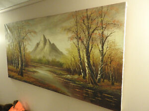 24x48 inch Original Nature painting on Canvas