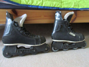 BAUER Rollerblades Size 9. Made in Canada.