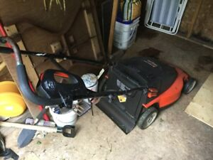 Be ready for spring!  Electric lawnmower combo