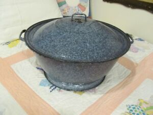 Antique Granite wear bread pan and cover