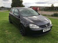 05 REG VOLKSWAGEN GOLF 1.4 S 5DR-NEW CLUTCH-DECENT NEW SHAPE GOLF WITH HISTORY-DRIVES WELL