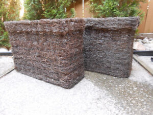 2 BIG RECTANGULAR PLANTERS