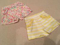 Girl's summer shorts age 3-4 years