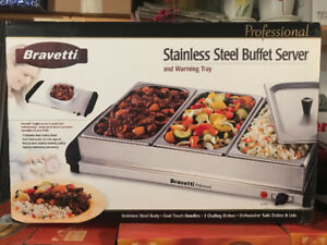 Buffet Server and Warming Tray - BRAND NEW, STILL IN BOX