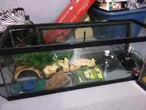 4 ft long reptile tank and accessories