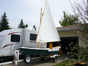 16' Bolger Windsprint Sailboat and Trailer