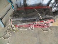 heavy duty rubber transport trailer tarp