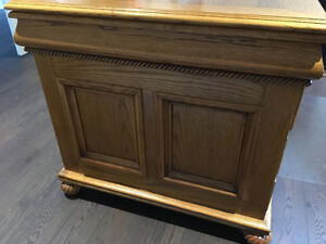 Solid Oak Desk Oakville / Halton Region Toronto (GTA) image 2