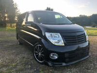 FRESH IMPORT 54 PLATE FACE LIFT NISSAN ELGRAND HIGHWAY STAR 3.5 V6 AUTO SUNROOF