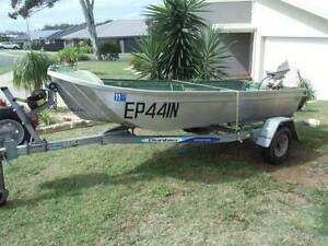 3.5m Aluminium Punt Boat and trailer Corindi Beach Coffs Harbour Area Preview