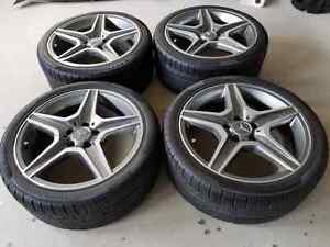 Mercedes AMG OEM Rims with winter tires