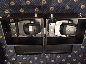 Imove 50sr led moving head disco/DJ lights x2 with flight cases