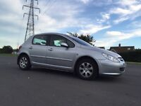 peugeot 307 1.6 S*ONLY 85K!A/C,FSH!BARGAIN!MINT!LOW INS!!not,fiesta,astra,focus