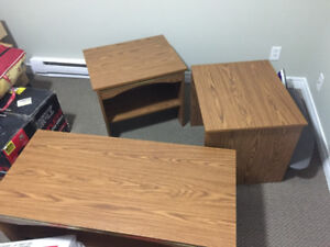 Three Coffee Tables with Shelves for 40$