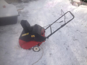 single stage 139cc snowthrower.