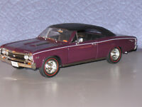 1967 Chevelle L-78 MAROON With BLACK DieCast Scale 1:18 by Ertl