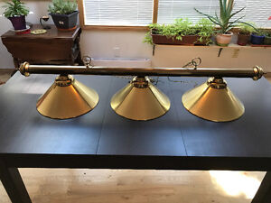 Antique-Style Brass Plated Pool/Dining Room Table Chandelier