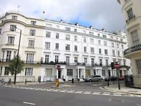 Double studio maisonette flat in Westbourne Crescent, Lancaster Gate, W2.
