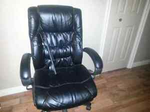 Leather office chair..
