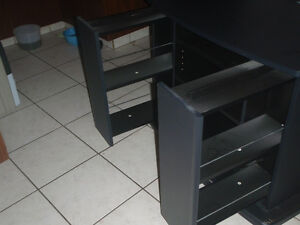 tv stand with 2 shelfs