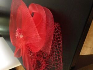 New Red Fascinator