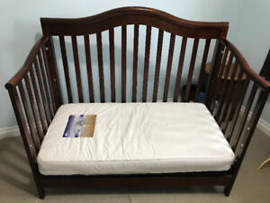 Baby Crib with waterproof mattress and boys bed set