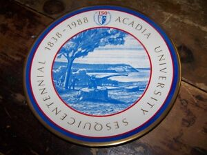 1838-1988 ACADIA University Sesquicentennial Collector Plate