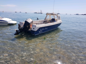 John Dory Cuddy fishing boat with 75hp mariner outboard