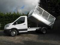 Ford Transit 350 L2 Mwb Alloy Tipper with removable cage sides and rear doors