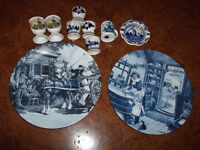 Delft Blue china misc pieces