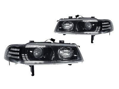 DEPO JDM Black Projector Headlight w/Corner Light Pair For 92-96 Honda (Honda Prelude Projectors)