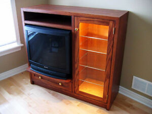 """Television Cabinet and display shelving Unit complete with 27""""TV"""