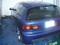 94 Civic hb;Body-Kit mouler;dropper;modifier;méc:A1=2500.00$éch.