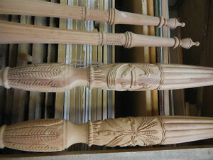Hand Carved Cherry Rice Bed Legs - Some Wood Work Required Kitchener / Waterloo Kitchener Area image 6