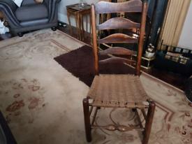 Vintage Victorian ladder back chair