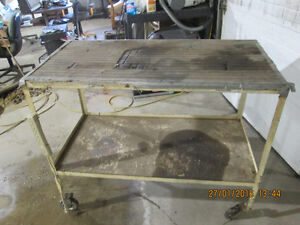 TABLE ON WHEELS FOR GARAGE-SHOP ETC