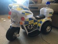 Electric police bike for children