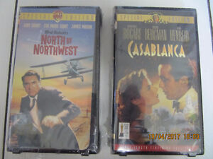 Classic Casablanca & North By Northwest VHS Lot NEW! Circa 1998
