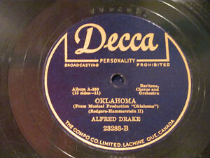 OKLAHOMA soundtrack on 78 rpm records Kitchener / Waterloo Kitchener Area image 2