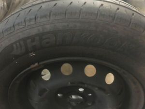 Set of Hankook  tires with Rams  p175/70R14