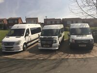16 SEATER MINIBUS HIRE WITH DRIVER