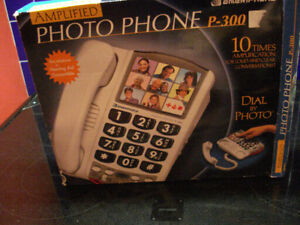 Large Button, Hearing Aid Compatible Land Line Phone