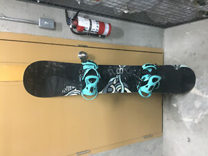 Almost new snowboard package