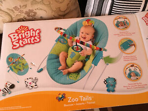 "Brand new ""Bright Starts"" bouncer!"