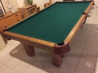 Olhausen Pool Table Installed with NEW FELT