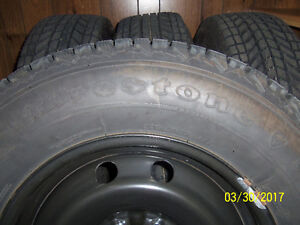 245/70/R17 Firestone Winterforce Truck Snow Tires On Rims (4)