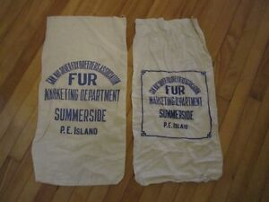 authentic PEI  fox fur bags
