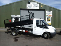 Ford Transit 2.4TDCi Single cab tipper **One company owner 95k miles FSH **