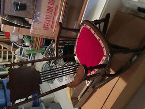 Child sized antique rocking chair
