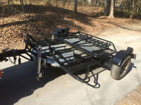 Motorcycle Trailer - 3 place compact design